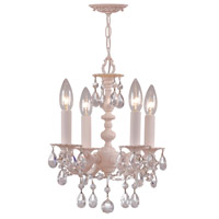 Crystorama Paris Flea Market 4 Light Mini Chandelier in Blush with Hand Cut Crystals 5514-BH-CL-MWP