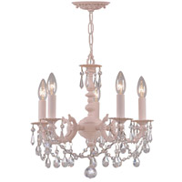 Crystorama Regis 5 Light Mini Chandelier in Blush with Hand Cut Crystals 5515-BH-CL-MWP