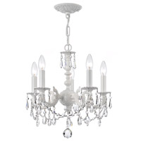 Paris Market 5 Light 14 inch Wet White Mini Chandelier Ceiling Light in Clear Crystal (CL), Hand Cut, Wet White (WW)