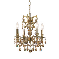 Crystorama Gramercy 4 Light Mini Chandelier in Aged Brass 5524-AG-GTS photo thumbnail
