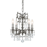 Crystorama Lighting Gramercy 4 Light Mini Chandelier in Pewter & Hand Cut Clear Crystal 5524-PW-CL-MWP