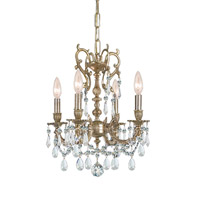 Crystorama Gramercy 5 Light Mini Chandelier in Aged Brass 5525-AG-CL-SAQ