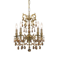 Crystorama Gramercy 5 Light Mini Chandelier in Aged Brass 5525-AG-GT-MWP