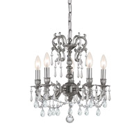 Crystorama Gramercy 5 Light Mini Chandelier in Pewter 5525-PW-CL-MWP