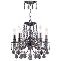 Crystorama 5545-PW-SSS Signature 5 Light 16 inch Pewter Mini Chandelier Ceiling Light