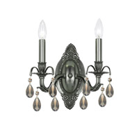Crystorama Dawson 2 Light Wall Sconce in Pewter 5562-PW-GTS photo thumbnail