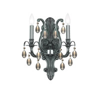 Crystorama Dawson 2 Light Wall Sconce in Pewter 5563-PW-GTS photo thumbnail