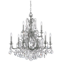 Dawson 9 Light 30 inch Pewter Chandelier Ceiling Light in Hand Cut, Pewter (PW)