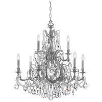 Crystorama 5579-PW-CL-S Dawson 9 Light 30 inch Pewter Chandelier Ceiling Light in Pewter (PW), Clear Swarovski Strass