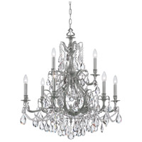 Dawson 9 Light 30 inch Pewter Chandelier Ceiling Light in Swarovski Spectra (SAQ), Pewter (PW)