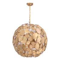 Crystorama Palla 6 Light Chandelier in Antique Gold 559-GA