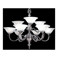 Crystorama Hot Deal 9 Light Chandelier in Pewter 559-PW