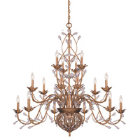 Crystorama Bethany 20 Light Chandelier in Etruscan Gold with Hand Polished Crystals 5619-EG
