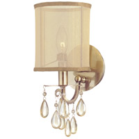 Crystorama Hampton 1 Light Wall Sconce in Antique Brass 5621-AB