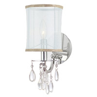 Hampton 1 Light 6 inch Polished Chrome Wall Sconce Wall Light in Polished Chrome (CH), Clear Smooth Teardrop Almond