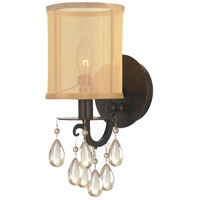 Crystorama 5621-EB Hampton 1 Light 6 inch English Bronze Wall Sconce Wall Light in English Bronze (EB) Etruscan Smooth Teardrop Almond