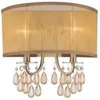 Hampton 2 Light 14 inch Antique Brass Wall Sconce Wall Light in Antique Brass (AB), Etruscan Smooth Teardrop Almond