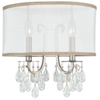 Crystorama Hampton 2 Light Wall Sconce in Polished Chrome 5622-CH