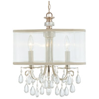 Hampton 3 Light 14 inch Polished Chrome Mini Chandelier Ceiling Light in Polished Chrome (CH), Clear Smooth Teardrop Almond