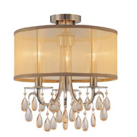 Crystorama Hampton Collection 3 Light Semi Flush Mount in Antique Brass 5623-AB_FLUSH photo thumbnail