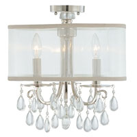 Crystorama Hampton Collection 3 Light Semi Flush Mount in Polished Chrome 5623-CH_FLUSH photo thumbnail