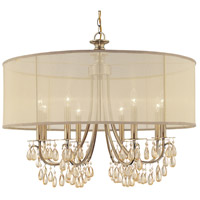 Crystorama Hampton 8 Light Chandelier in Antique Brass 5628-AB