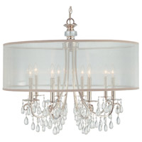 Crystorama 5628-CH Hampton 8 Light 32 inch Polished Chrome Chandelier Ceiling Light in Polished Chrome (CH)