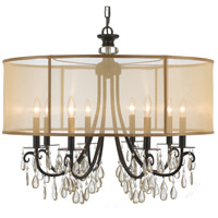 Crystorama Hampton 8 Light Chandelier in Antique Brass 5628-EB