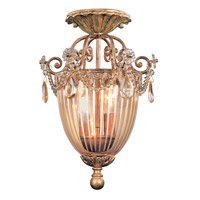 Crystorama Tuscany 2 Light Semi-Flush Mount in Etruscan Gold 5631-EG