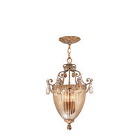 Crystorama Tuscany 3 Light Pendant in Etruscan Gold 5633-EG