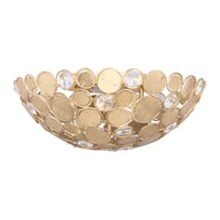 Crystorama Bella 3 Light Flush Mount in Antique Gold 565-GA