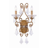 Crystorama Signature 2 Light Vanity Light in Vienna 5652-VN