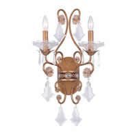 Crystorama Vienna Collection 2 Light Wall Sconce in Vienna 5652-VN
