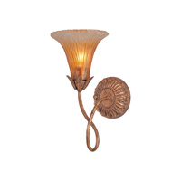 Crystorama European Classic 1 Light Wall Sconce in Gold Leaf 5671-GL