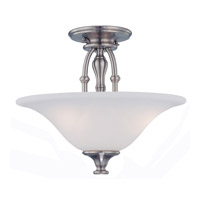 Crystorama Cortland 3 Light Semi-Flush Mount in Satin Nickel 5684-SN photo thumbnail