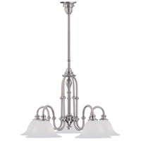Crystorama Cortland 3 Light Chandelier in Satin Nickel 5685-SN