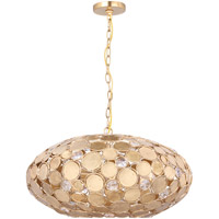 Crystorama Bella 6 Light Pendant in Antique Gold 569-GA