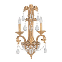 Crystorama Lighting Venetian 2 Light Wall Sconce in Etruscan Gold & Optical 5692-EG photo thumbnail