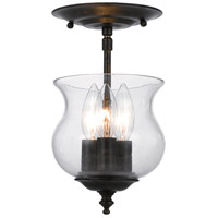 Crystorama Ascott 3 Light Semi Flush Mount in English Bronze 5715-EB