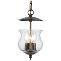 Ascott 3 Light 7 inch Antique Brass Hanging Lantern Ceiling Light in Antique Brass (AB)