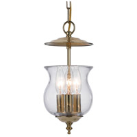 Crystorama Ascott 3 Light Hanging Lantern in Polished Brass 5717-PB