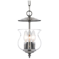 Crystorama 5717-PW Ascott 3 Light 7 inch Pewter Hanging Lantern Ceiling Light in Pewter (PW)