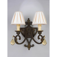 Crystorama 5732-GT-MWP Signature 2 Light 15 inch Bronze Umber Wall Sconce Wall Light