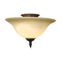 Hot Deal 2 Light 16 inch Bronze Patina Flush Mount Ceiling Light