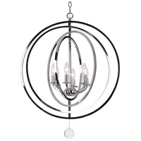 Crystorama 576-CH Finley 6 Light 23 inch Chrome Chandelier Ceiling Light