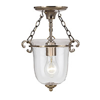 Signature 1 Light 10 inch Antique Brass Pendant Ceiling Light