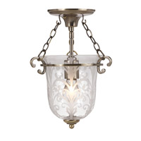 Crystorama Camden 1 Light Pendant in Antique Brass 5760-AB