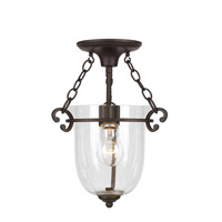 Crystorama Signature 1 Light Pendant in Bronze Umber 5760-BU-CL