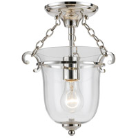 Crystorama 5760-PN Westbury 1 Light 10 inch Polished Nickel Semi Flush Mount Ceiling Light