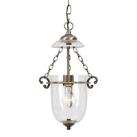 Crystorama Signature 1 Light Pendant in Antique Brass 5761-AB-CL